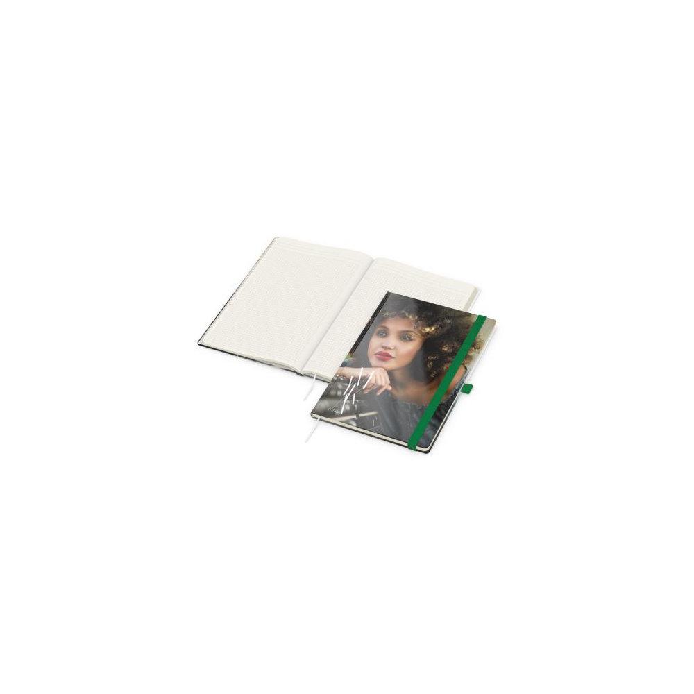 Match-Book Creme A4 bestseller, gloss-individuell, grün