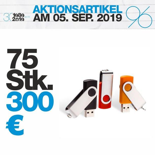 USB-Stick 1GB mit Metallbügel 75 Stück Set-Preis
