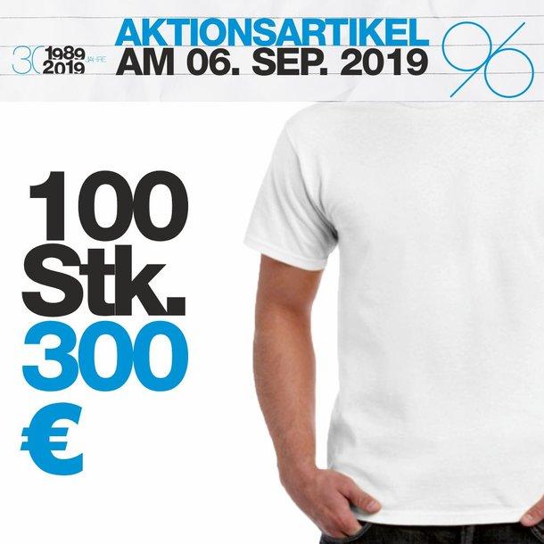 T-Shirt weiss 100 Stück Set-Preis