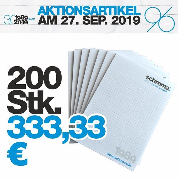 A5 Schreibblock 25 Blatt 200 Stück Set-Preis
