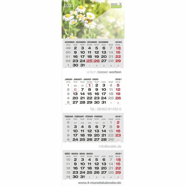 snekk® 4-Monats-Mehrblockkalender ROMA INT Brillant Rot