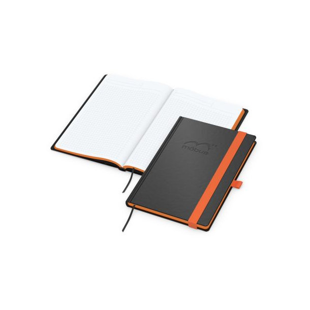 Color-Book A5 bestseller, Farbschnitt orange