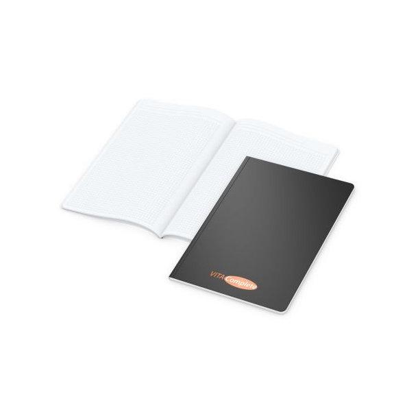 Copy-Book White A4 bestseller, matt-schwarz, Siebdruck-Digital