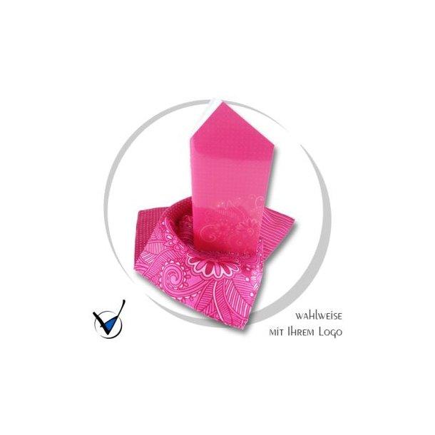 Einstecktuch mit Notizbuch, pink
