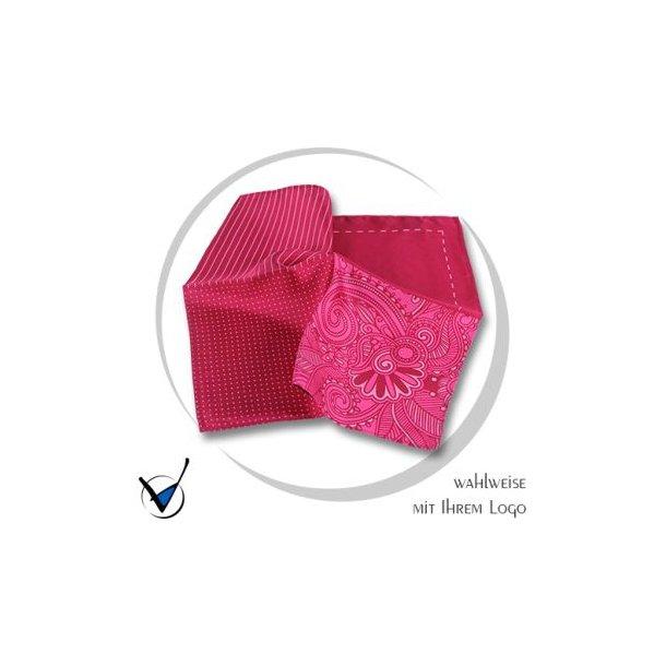 Einstecktuch, pink