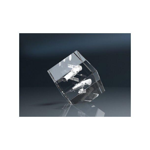 Glaswürfel, 40x40x40mm mit abgeschliffener Ecke