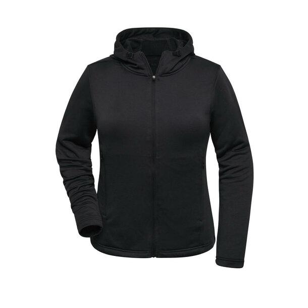 Ladies\' Sports Zip Hoody - Modische Kapuzenjacke aus 100% recyceltem Polyester für Sport und Freizeit