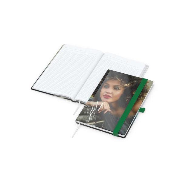 Match-Book White A5 Bestseller, gloss-individuell, grün