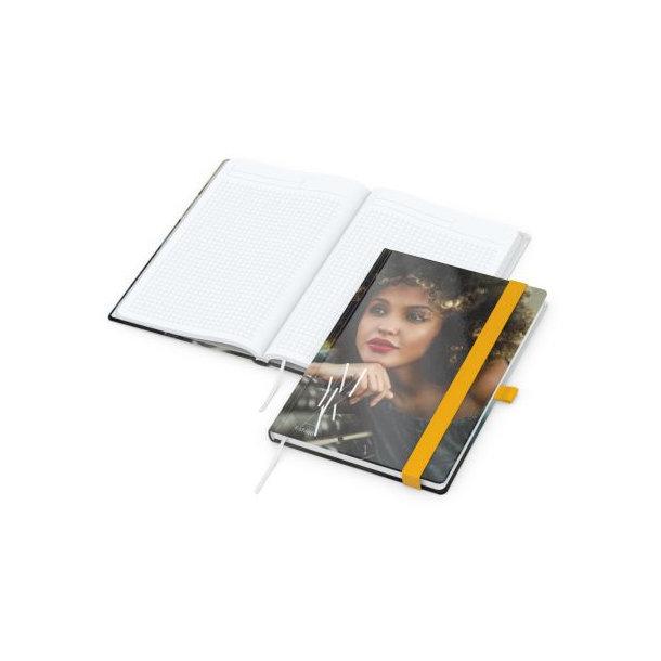 Match-Book White A5 bestseller, gloss-individuell, gelb