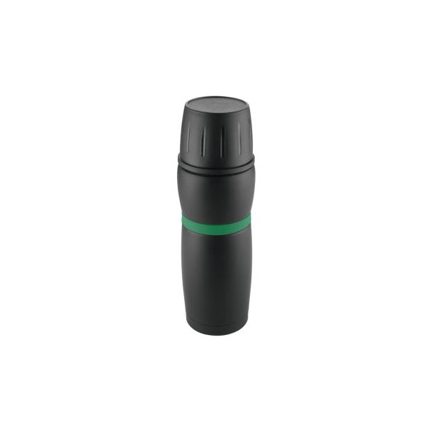 """Metmaxx® Thermosflasche """"CremaTravel"""" schwarz/grün"""