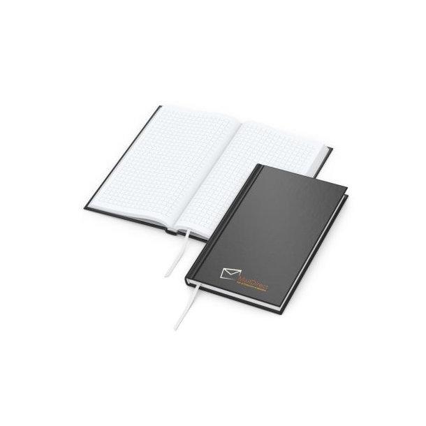 Note-Book Pocket bestseller, matt-schwarz, Siebdruck-Digital