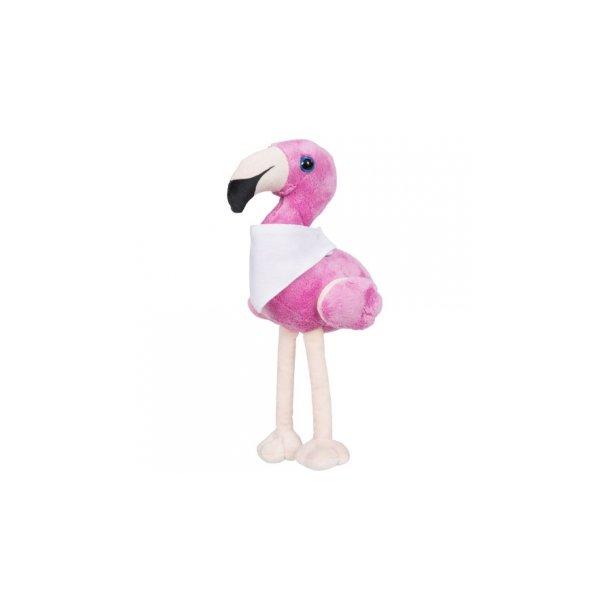 Flamo Plüsch-Flamingo mit gestaltbarem Halstuch