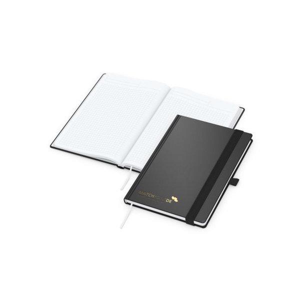 Vision-Book White A4 bestseller, schwarz, Goldprägung