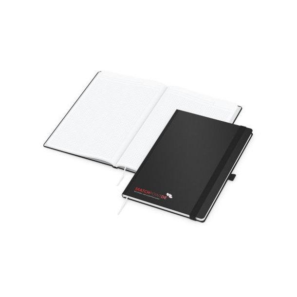 Vision-Book White A4 bestseller, schwarz Siebdruck-Digital