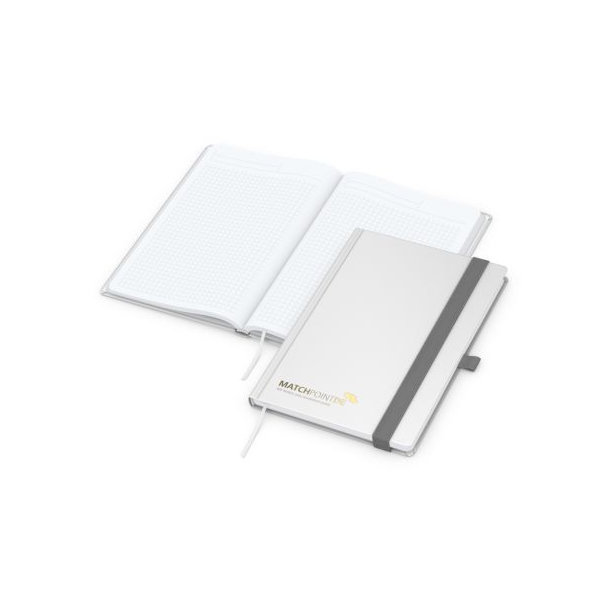 Vision-Book White A4 bestseller, weiß, Goldprägung