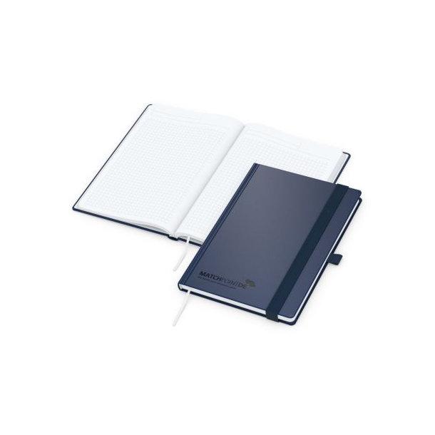 Vision-Book White A5 bestseller, blau, Prägung schwarz-glänzend