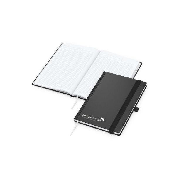 Vision-Book White A5 bestseller, schwarz Siebdruck-Digital
