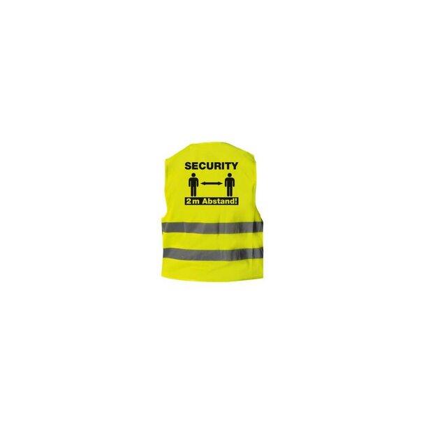Warnweste Security 2 Meter Abstand